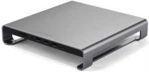 USB хаб + подставка под iMac Satechi Aluminum Monitor Stand Hub Space Gray (ST-AMSHM)