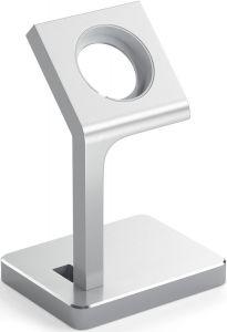 Подставка с поддержкой функции док-станции для Apple Watch Satechi Aluminum Apple Watch Charging Stand Silver (ST-AWSS)