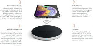 Беспроводное зарядное устройство Satechi Aluminum Fast Wireless Charger 10W Silver (ST-IWCBS)