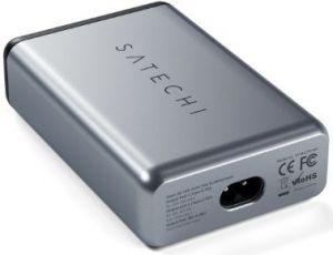 Сетевое зарядное устройство Satechi 75W Dual Type-C PD Travel Charger Space Gray (ST-MC2TCAM)