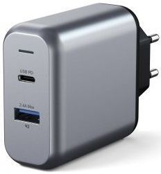 Сетевое зарядное устройство Satechi 30W Dual-Port Wall Charger Space Gray (ST-MCCAM-EU)