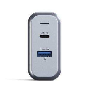 Сетевое зарядное устройство Satechi 30W Dual-Port Wall Charger Space Gray (ST-MCCAM-EU)