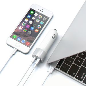 Автомобильное зарядное устройство Satechi USB Car Charger with Type C (12W/36W) Silver (ST-TCUCCS)
