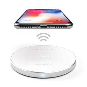 Беспроводное зарядное устройство Satechi Wireless Charging Pad QC2.0 Silver (ST-WCPS)
