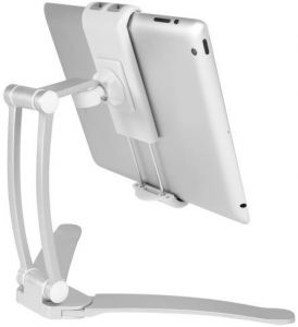 Универсальный держатель (4.7'' - 11'') Macally Wall Mount And Countertop Stand For iPad/Tablet Silver (STANDWALLMOUNT)