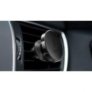 Автодержатель (до 7'') Baseus Small Ears Series Air Outlet Magnetic Bracket (Genuine Leather Type) Black (SUER-E01)