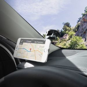 Автодержатель (до 7'') Macally Car Suction Mount With Telescopic/Magnetic Arm Black (TELEMAG)