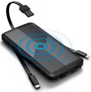 Внешний аккумулятор с беспроводной зарядкой (5W) iWalk Scorpion Air 12000mAh Black (UBA12000)