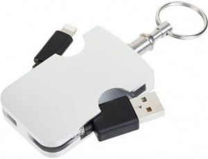 Кабель-брелок FuseChicken USB to Lightning Armour Travel 13cm Silver (UCB100/101-UCB)