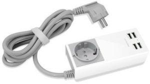 Сетевое зарядное устройство Macally 4 USB Home Charger White (UNISTRIP2-EU)