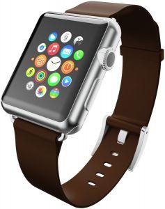 Кожаный ремешок для Apple Watch 42/44mm Incipio Premium Leather Watch Band Espresso (WBND-009-ESPRSO)