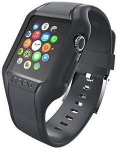 TPU-ремешок с пластиковым чехлом для Apple Watch 42mm (Серия 1) Incipio NGP Strap Smoke (WBND-012-SMK)