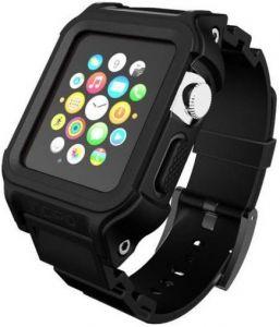 TPU-ремешок с пластиковым чехлом для Apple Watch 42mm (Серия 1) Incipio Octane Strap Black/Black (WBND-017-BLKBLK)