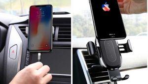 Автодержатель (до 6.5'') с беспроводным зарядным устройством Baseus Wireless Charger Gravity Car Mount Black (WXYL-01)