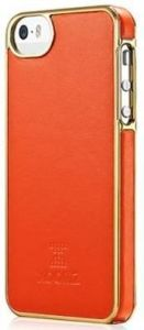 Кожаный чехол для iPhone SE и iPhone 5/5S Xoomz Luxury Electroplating Orange (back cover) (XIP505)