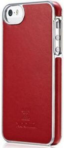 Кожаный чехол для iPhone SE и iPhone 5/5S Xoomz Luxury Electroplating Red (back cover) (XIP505)