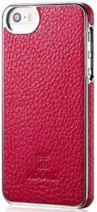 Кожаный чехол для iPhone SE и iPhone 5/5S Xoomz Litchi Pattern Leather Electroplating Rose (back cover) (XIP506)