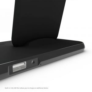 Беспроводное зарядное устройство (10W) + док-станция Zens Stand + Dock Aluminium Wireless Charger 10W Black (ZEDC06B/00)