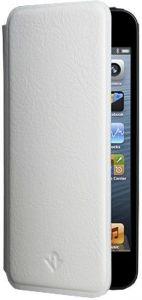 Кожаный чехол для iPhone SE и iPhone 5/5S Twelvesouth SurfacePad Modern White (TWS-12-1229)