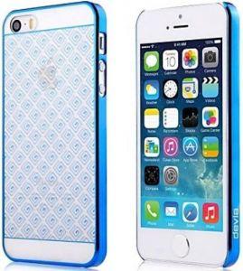 Чехол для iPhone SE и iPhone 5/5S Devia Glimmer Brocade Blue