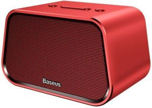 Портативная колонка Baseus Encok Multi-functional wireless speaker E02 Aluminum alloy+U disk/TF card/AUX Red (NGE02-09)