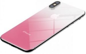 Защитное 3D-стекло на заднюю панель для iPhone X Baseus Coloring Tempered Glass Retral Film Pink (SGAPIPHX-GR04)