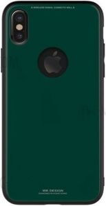 Стеклянный чехол WK Azure Stone Case for iPhone X/XS Dark Green (WPC-051)