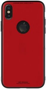 Стеклянный чехол WK Azure Stone Case for iPhone X/XS Red (WPC-051)