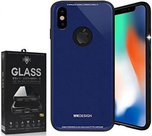 Стеклянный чехол WK Azure Stone Case for iPhone X/XS Dark Blue (WPC-051)