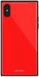 Стеклянный чехол WK Barlie Case for iPhone X/XS Red (WPC-070)